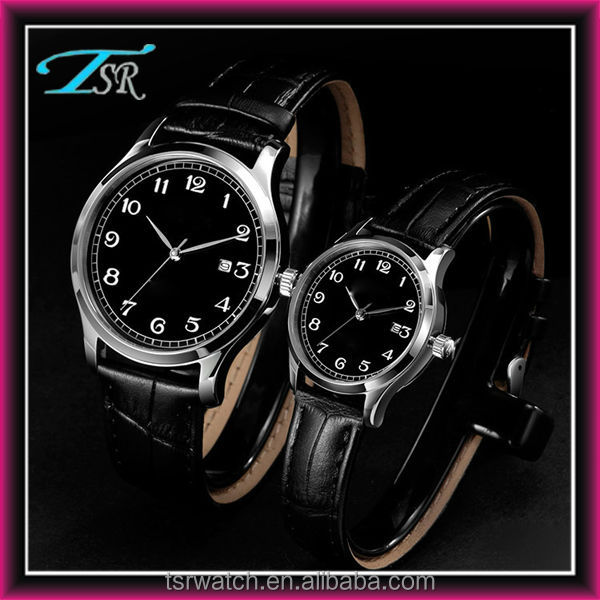 New watch, men's watches black face from watch manufacturer