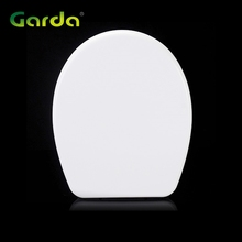 High grade exquisite white uf oval shaped wc solid soft close plastic seat toilet cover
