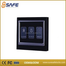 New acrylic hotel double control electronic touch wall switch