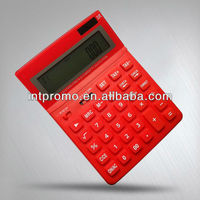 12 digits red body desktop calculator with 120 step check and correct and tax function