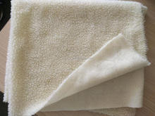 Soft polyester sherpa fleece fabric