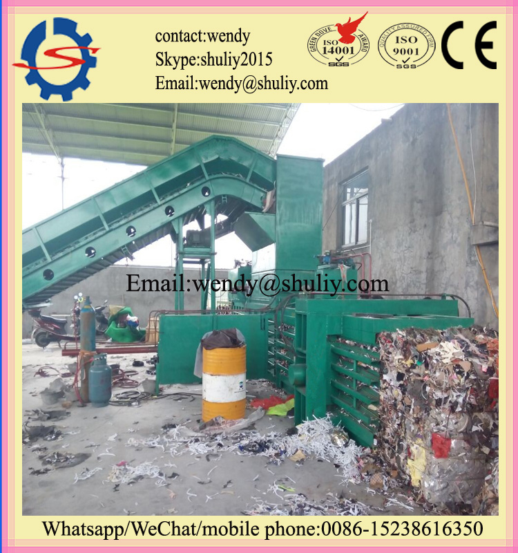 hydraulic vertical and horizontal scrap tire baler machine
