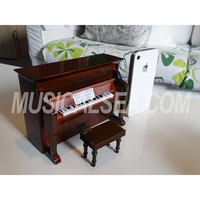 Miniature piano shape music box / mini piano and rotating music box hand crank music box crafts