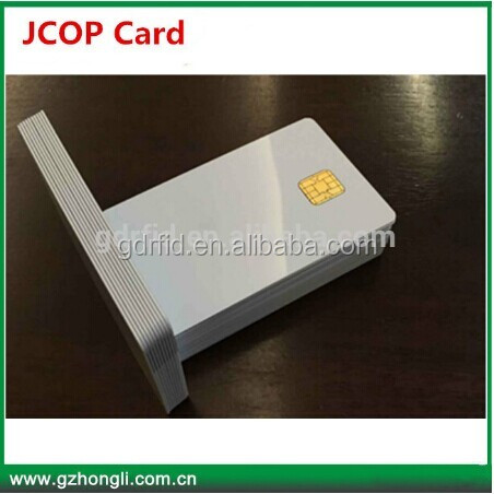 J3A040 JCOP 2.4.1 40k with Original chips cards /JAVA Contact IC Card with 2 track magnetic strip