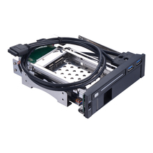 2.5+3.5in hard drive disk case sata optibay hdd docking station 5.25 internal enclosure hdd mobile rack with USB 3.0