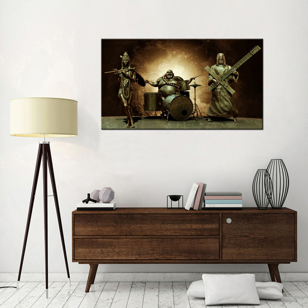 Traditional Buddhism Canvas Painting/Modern Canvas Wall Art Prints/Abstract Buddha Canvas Print Art
