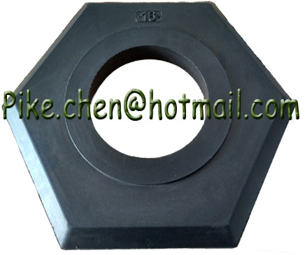 16lb Hexagon Durable Heavy Duty Vulcanized Traffic Rubber Base