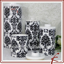 ceramic decorative tea coffee sugar canister set