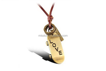 vintage cord skateboard leather necklace love engraved cross pendant necklace