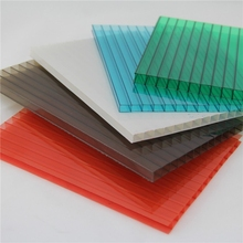 Colored polycarbonate hollow sheet / policarbonato sheets supplier