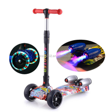 latest arrival 135 mm big PU wheels foldable water sprayer children maxi scooter