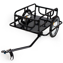 high quality powder coated Bike trailer load luggage tag black for sale