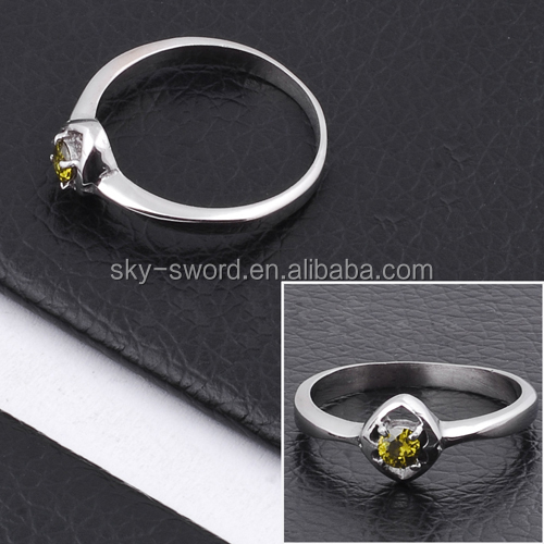 Promotional Custom Stainless Steel Diamond Cheap Ring Jewelry TR10073