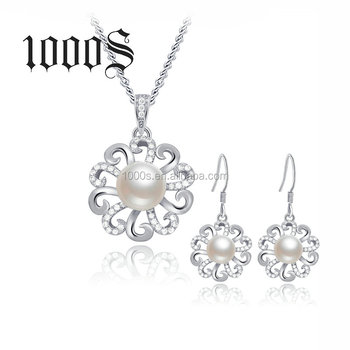 Elegant Wedding 925 Silver Pearl Jewelry Set for Women