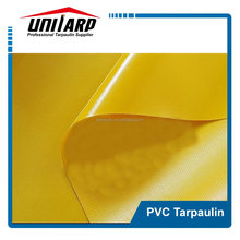 yellow acrylic lacquer PVC coated tarpaulin fabric