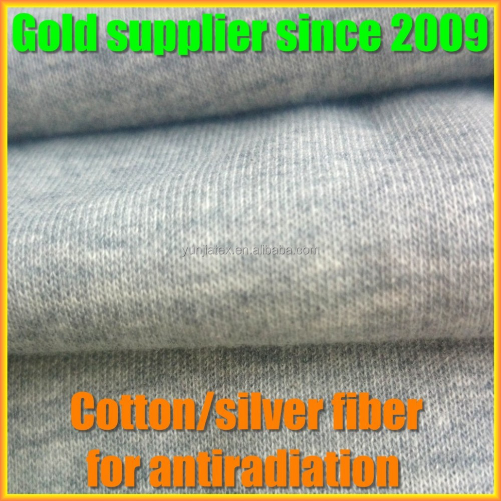 Silver fiber EMF shield knitted fabric