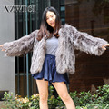 CX-G-A-256 Cheap Professional Lovely Full Pelt Natural Knitted Real Fox Fur Coat