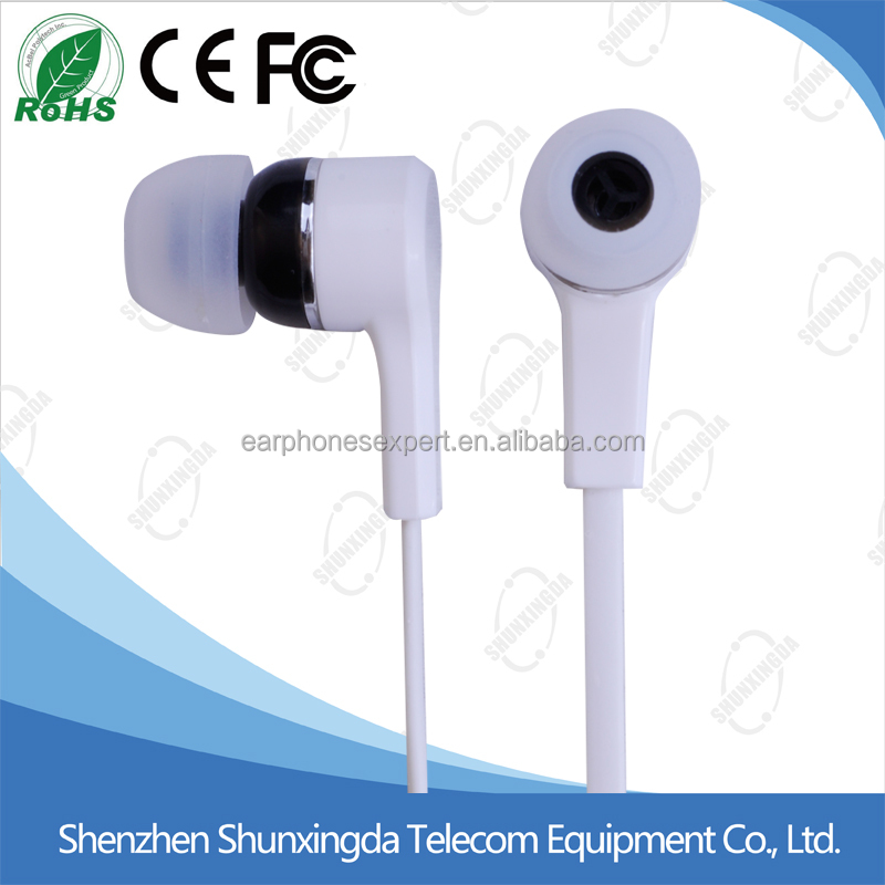 High quality cartoon flat cable In-Ear Stereo Headset Earbuds mobile Earphone for all mobile phones with mic