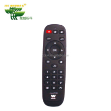 Cheap price factory wholesale ABS and rubber Material 2x AAA batteries clear tv remote control