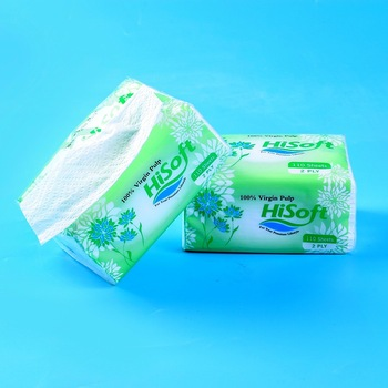 Manufacturer factory 2 ply 1ply  custom pop up facial tissue