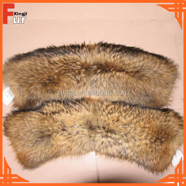 Chocolate Color, with special clip Raccoon Fur Collars