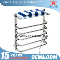 low price bathroom stainless steel double electric heated towel rail