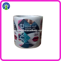Market Favorate Customized/OEM Adhesive Label Stickers for Hair Products Vinyl Rolling sticker
