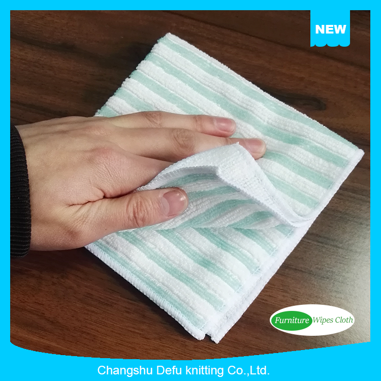 Color Strip Microfiber Cleaning Cloth For Furniture Polish