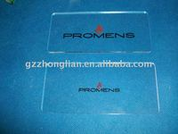 Plexiglass logo display