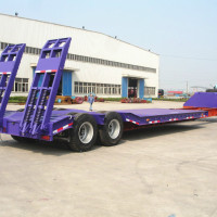 40ft Flatbed Semi Trailer Heavy Machine