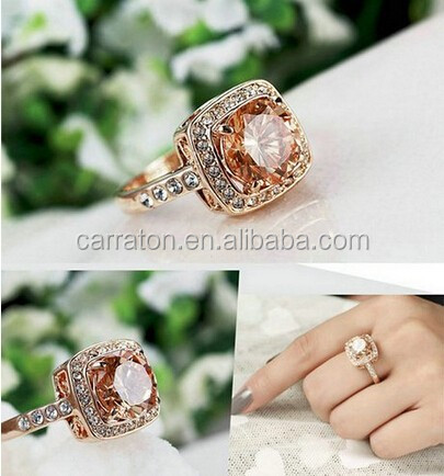 customer design new fashion solitaire AAA cz ring jewellery