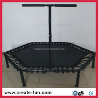 Newest hexagonal mini trampoline without safety net