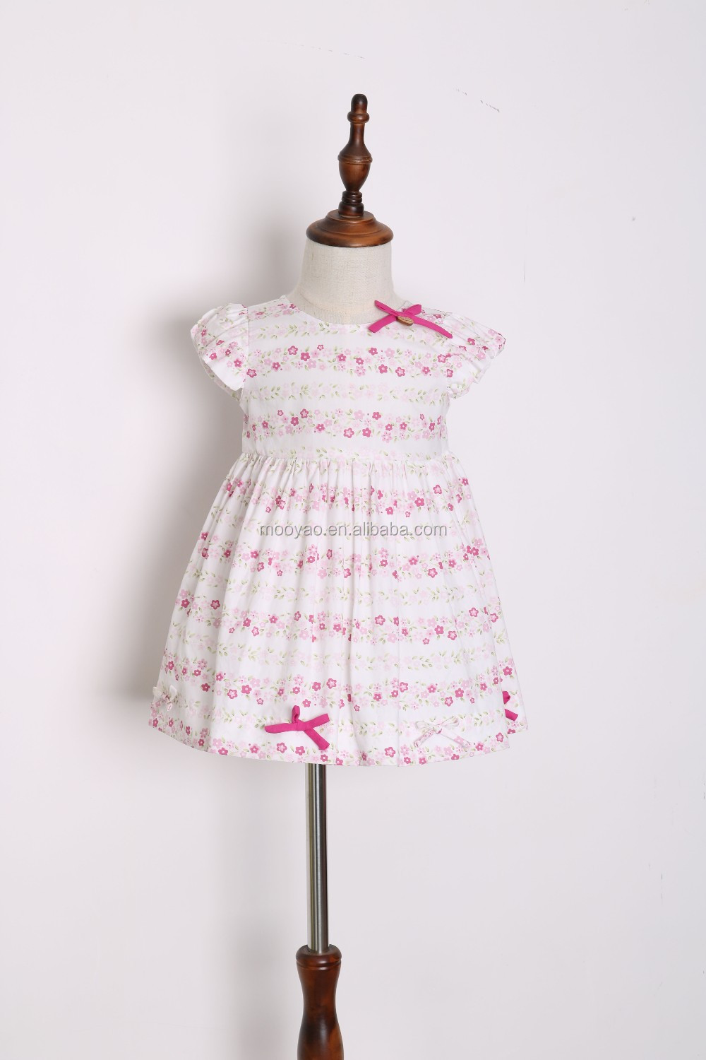 Wholesale Cap Sleeve children dress clothing cotton pink marie ...