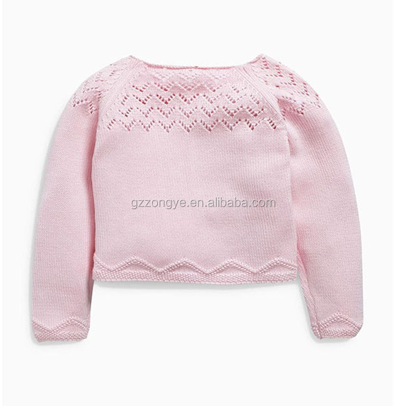 Guangzhou Pink kids crochted clothes cardigan