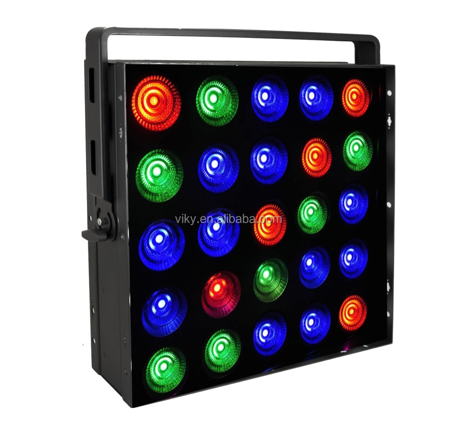 Guangzhou school kits dmx rgb 5*5 blinder stage lighting suppliers
