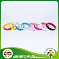 advertising printing wide color silicone wristbands with invisible pocket
