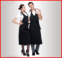 scoop neck restaurant waiter and waitress apron