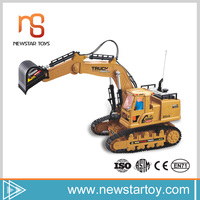 Trend 2017 flexible kid construction toy rc excavator for sale