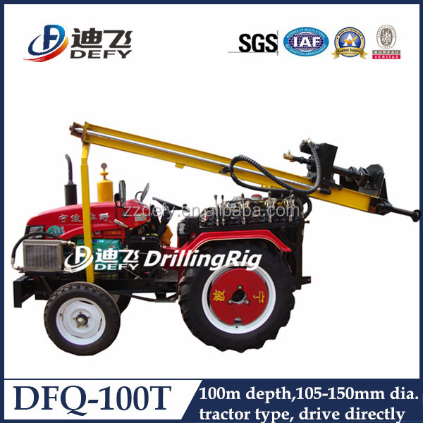 DFQ-100T Small water well Rock blasting equipment with Hammer