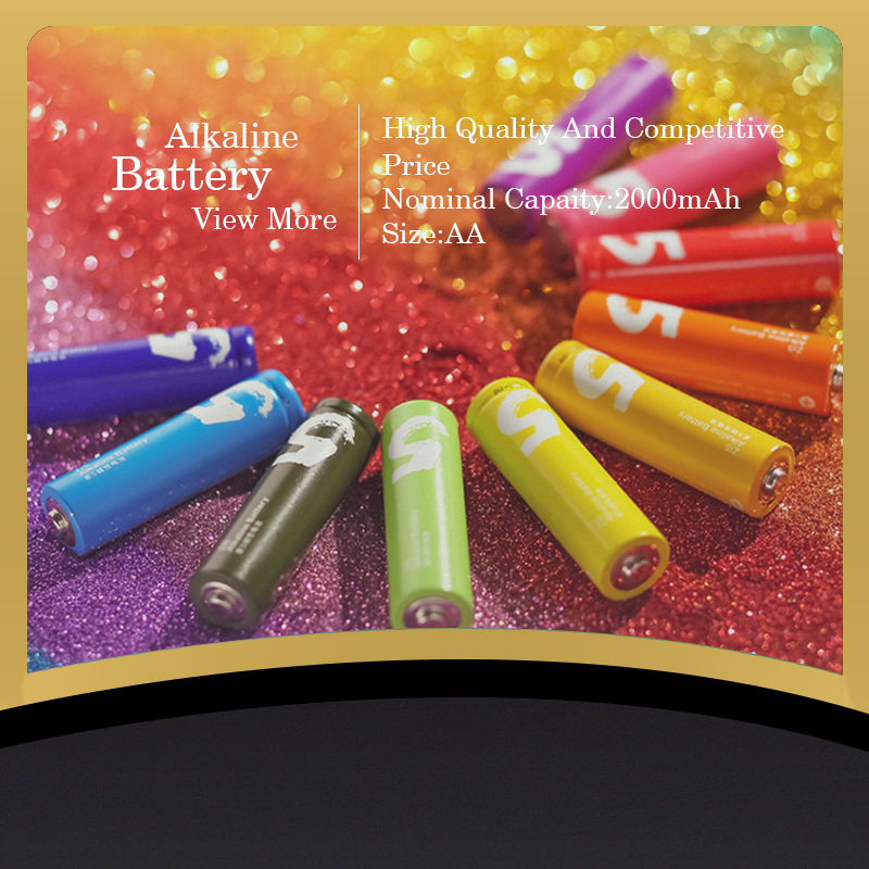 Environment Friendly LR03/LR6 Colourful AAA Battery 1.5V Dry Cell Battery