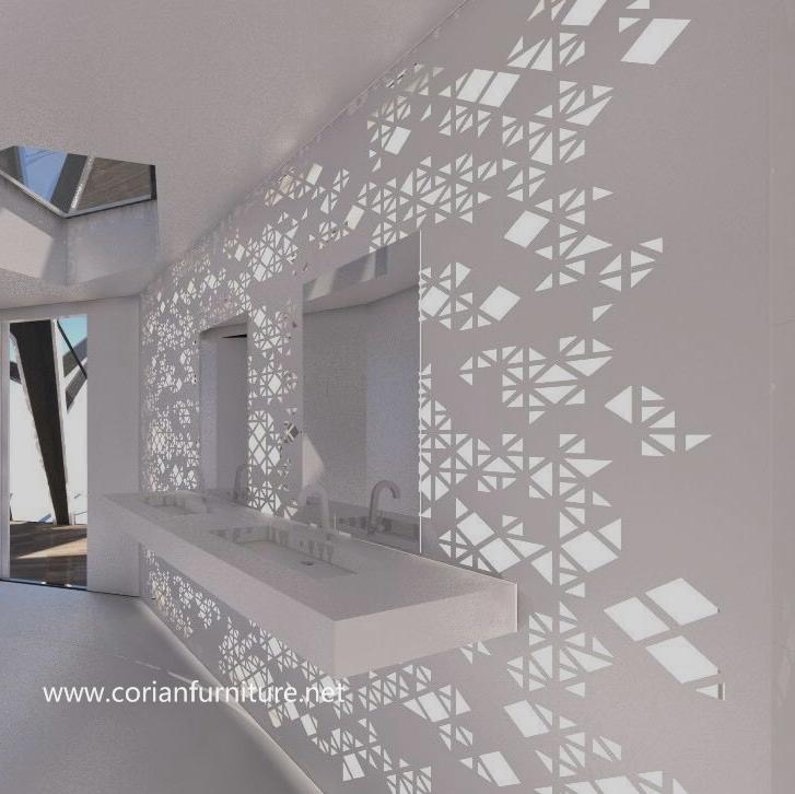 custom corian vanidad cuarto de bao diseo moderno mostrador