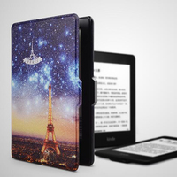 2017 tablet cover with Sleep function customized pu leather case for kindle paperwhite