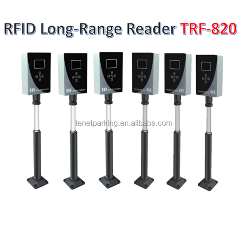 433MHZ Bluetooth long-range card reader combining with barrier gate RFID Ticket vending machine management access control system