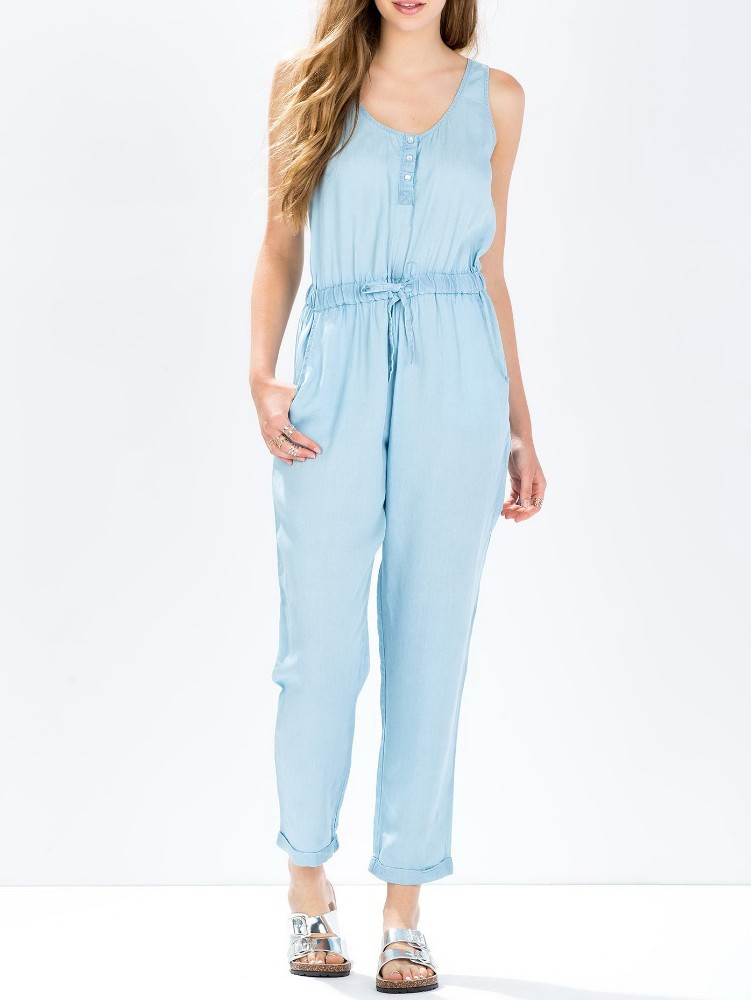Custom design quality long playsuit casual new adult pajama jumpsuit
