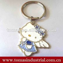Cute metal hello kitty key chain charm for decoration