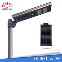 Hot 40W integrated solar led garden street light with motion sensor