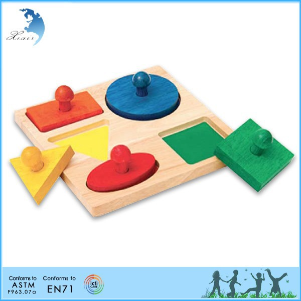 Educational early age educational EN71 safety wooden material montessori low MOQ toy