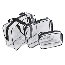 Hot Popular clear pvc travel toiletry transparent zipper cosmetic bag