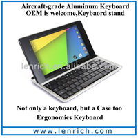 LBK807 New Aluminium Wireless Bluetooth Keyboard For Google Nexus 7 II inch Tablet PC