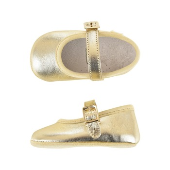 fancy bady girls dress shoes sheep metalic bowknot back elastic not slip out comfortable leather ballet shoes